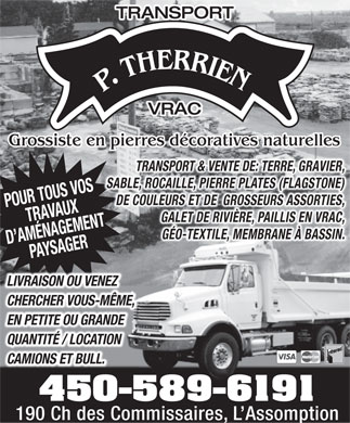 Transport P Therrien S E N C (450-589-6191) - Annonce illustrée
