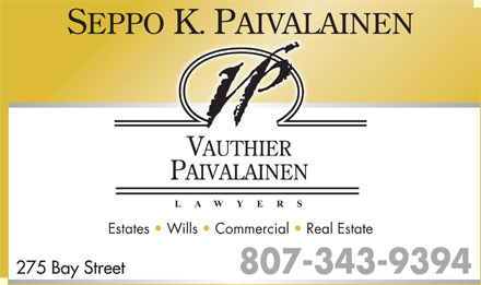 Vauthier Paivalainen (807-343-9394) - Display Ad