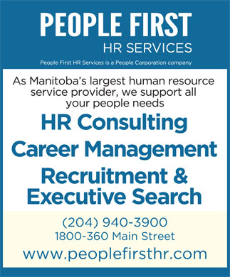 People First HR Services Ltd (204-940-3900) - Annonce illustr&eacute;e