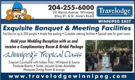 Travelodge Winnipeg East (204-255-6000) - Annonce illustrée