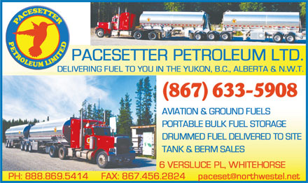 Pacesetter Petroleum Ltd (867-633-5908) - Display Ad