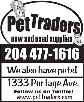 Pet Traders (204-477-1616) - Display Ad