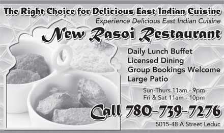 New Rasoi Restaurant (780-739-7276) - Display Ad