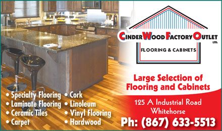 Cinderwood Factory Outlet (867-633-5513) - Display Ad