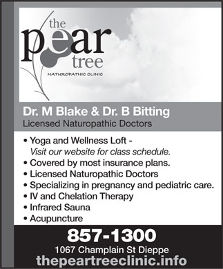 The Pear Tree Naturopathic Clinic (506-857-1300) - Display Ad