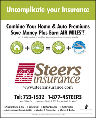 Steers Insurance Limited (709-722-1532) - Display Ad