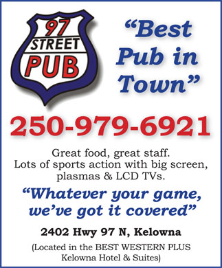 97 Street Pub (250-979-6921) - Display Ad