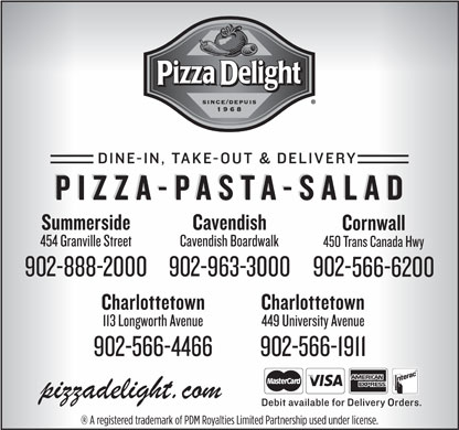 Pizza Delight (902-566-1911) - Display Ad