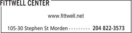 FittWell Center (204-822-3573) - Annonce illustrée - www.fittwell.net  www.fittwell.net