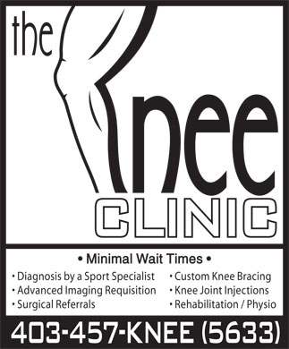 Knee Clinic (403-457-5633) - Display Ad
