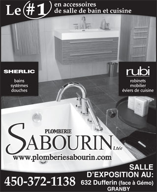 Plomberie Sabourin (450-372-1138) - Display Ad