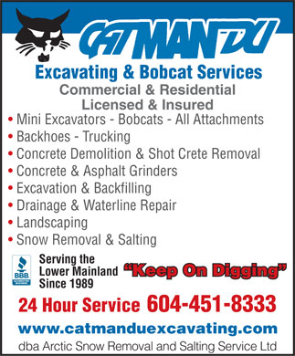 Arctic Snow Removal &amp; Salting Service Ltd (604-451-8333) - Display Ad