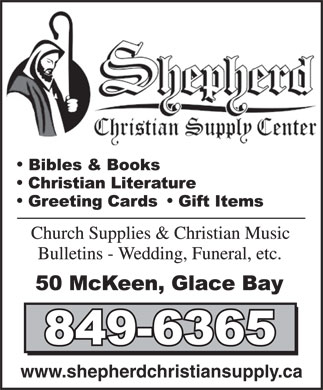 Shepherd Christian Supply Centre Ltd (902-849-6365) - Annonce illustr&eacute;e