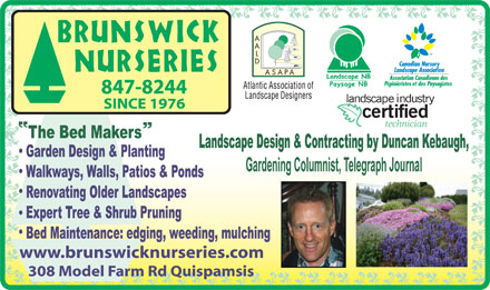 Brunswick Nurseries (506-847-8244) - Display Ad