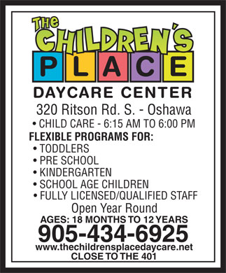 The Children's Place (905-434-6925) - Annonce illustrée