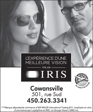 Iris Optometristes Et Opticiens (450-263-3341) - Annonce illustrée