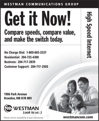 Westman Communications Group (204-725-4300) - Annonce illustrée