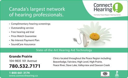 Connect Hearing (780-532-7171) - Display Ad
