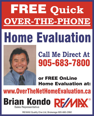 Kondo Brian - RE/MAX (905-683-7800) - Annonce illustr&eacute;e