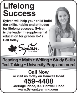 Sylvan Learning Center (506-459-4408) - Annonce illustrée