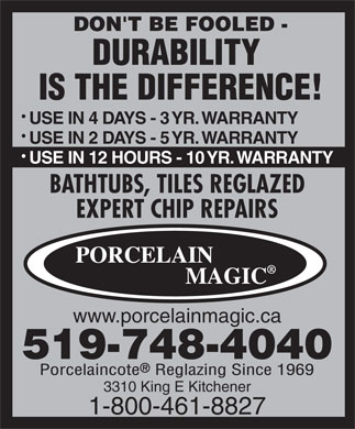 Porcelain Magic (1-800-461-8827) - Display Ad
