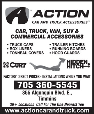 Action Car And Truck Accessories (705-360-5545) - Display Ad