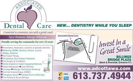 Associated Dental Care (613-737-4944) - Display Ad