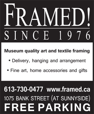 Framed By Us Or By You (613-730-0477) - Display Ad
