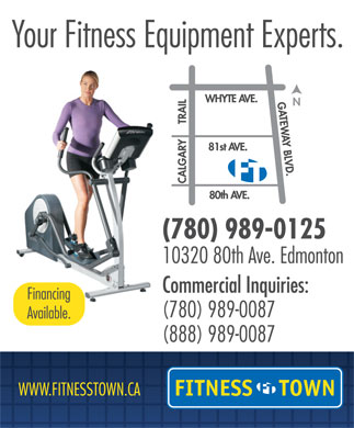 Fitness Town (780-989-0125) - Display Ad