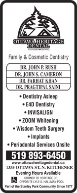 Ottawa Heritage Dental (519-893-6450) - Display Ad