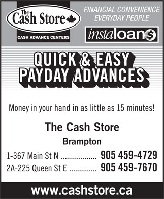 Cash Store The (905-459-4729) - Display Ad