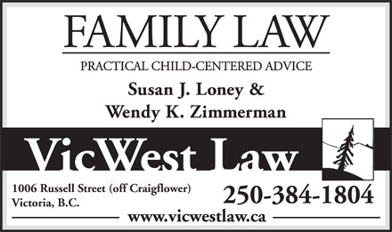 Vic West Law (250-384-1804) - Annonce illustrée