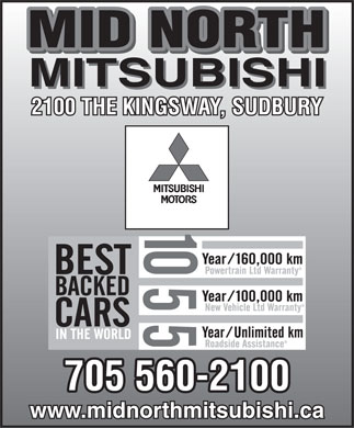 Mid North Mitsubishi (705-560-2100) - Display Ad