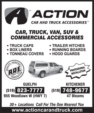 Action Car and Truck Accessories (519-823-7777) - Annonce illustrée