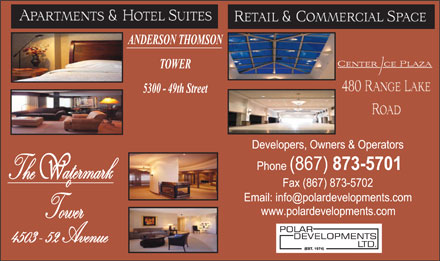 Anderson Thomson Tower (867-873-5701) - Display Ad
