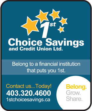 1st Choice Savings & Credit Union Ltd (403-320-4600) - Display Ad