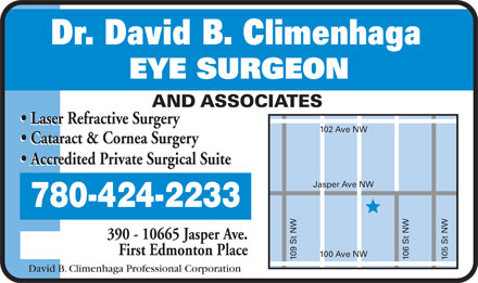 Dr David B Climenhaga (780-424-2233) - Display Ad
