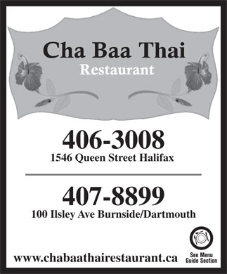 Chabaa Thai Restaurant (902-406-3008) - Annonce illustr&eacute;e