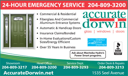 Accurate Dorwin (204-982-4640) - Display Ad - 204-809-3200 204-809-3217 204-809-3213204-809-3293204-809-3200 AccurateDorwin.net