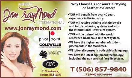 L'Institut Jon Raymond (506-857-9840) - Display Ad