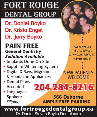 Fort Rouge Dental Group (204-284-8216) - Display Ad