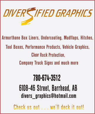 Diversified Graphics Signs & Truck Accessories (780-674-3512) - Annonce illustrée - 780-674-3512