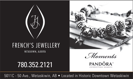 French's Jewellery (780-352-2121) - Display Ad - 780.352.2121 5011C - 50 Ave., Wetaskiwin, AB   Located in Historic Downtown Wetaskiwin