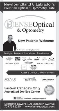 Bense Optical & Optometry (709-754-1250) - Display Ad