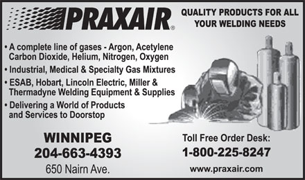 Praxair (204-663-4393) - Display Ad