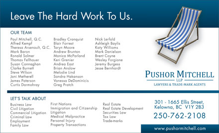 Pushor Mitchell LLP (778-760-0419) - Display Ad