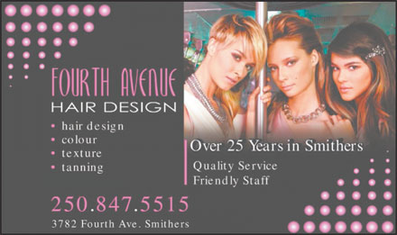Fourth Ave Hair Design (250-847-5515) - Annonce illustr&eacute;e