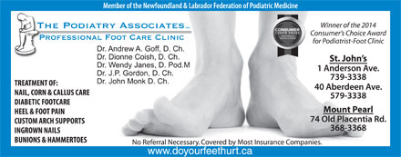The Podiatry Associates (709-739-3338) - Display Ad