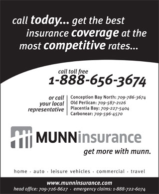 Munn Insurance (709-726-8627) - Display Ad