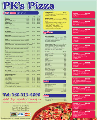 Abasand PK's Pizza (780-588-5382) - Display Ad